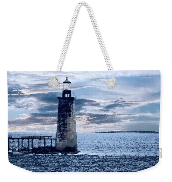 Ram Island Head Lighthouse.jpg Weekender Tote Bag