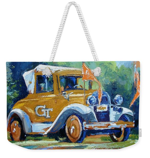 Ga Tech Ramblin' Wreck - Part Of College Series Weekender Tote Bag