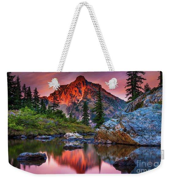 Rampart Lakes Tarn Weekender Tote Bag