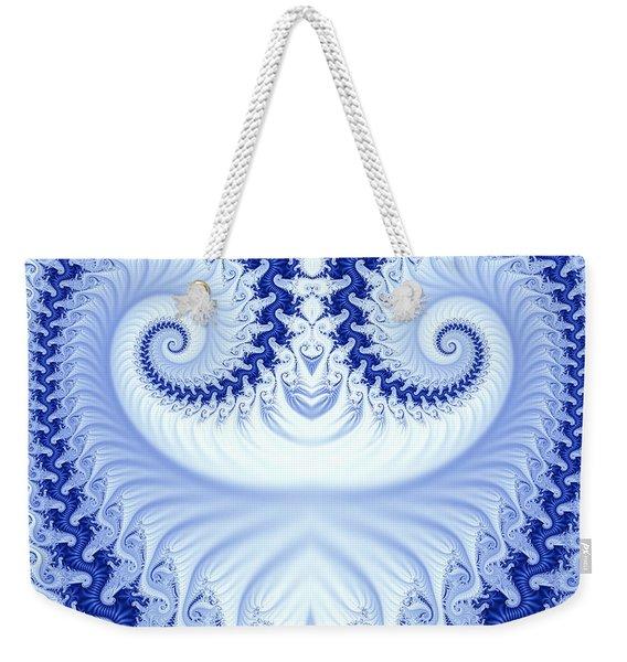 Ram's Horn Blue Weekender Tote Bag
