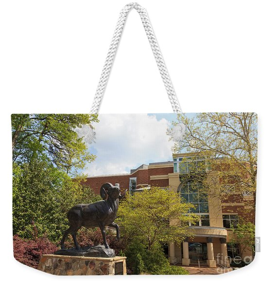Ramses The Bighorn Ram Sculpture Weekender Tote Bag