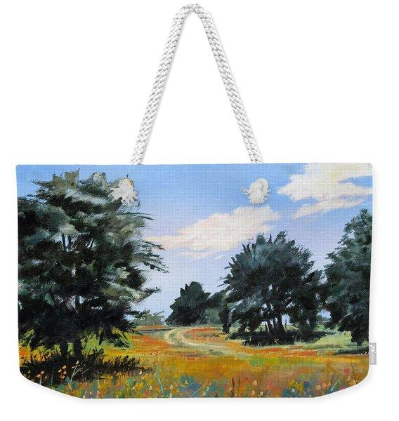 Ranch Road Near Bandera Texas Weekender Tote Bag