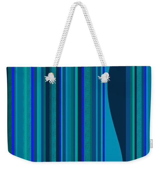 Random Stripes - Electric Blue Weekender Tote Bag