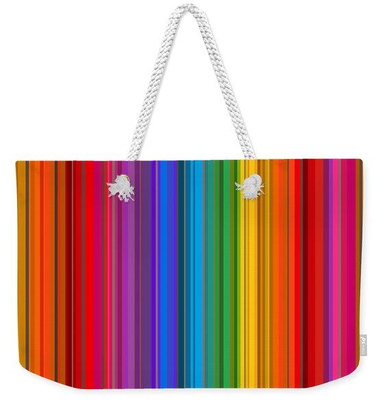 Random Stripes - Rainbow Stripe Weekender Tote Bag
