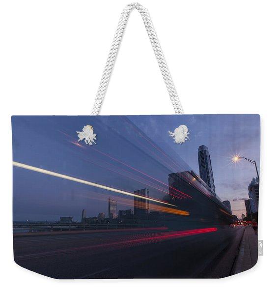 Rapid Transit Weekender Tote Bag