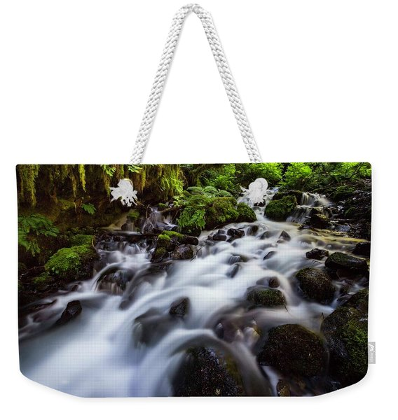 Rapids On Wahkeena Creek Weekender Tote Bag