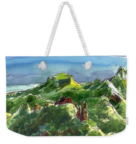 Rarotonga, Te Kou Mountain View Weekender Tote Bag