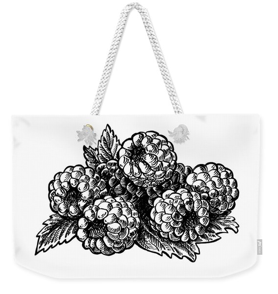 Raspberries Image Weekender Tote Bag