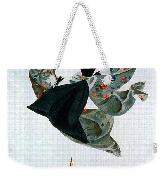 Rassegna Del Tessile E Del'abbigliamento Autarchico - Venezia, Italy - Retro Travel Poster Weekender Tote Bag