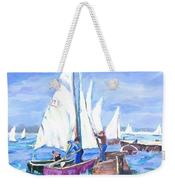 Rather Be Sailing Weekender Tote Bag