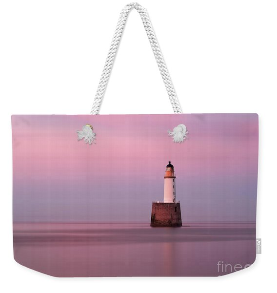 Rattray Head Lighthouse At Sunset - Pink Sunset Weekender Tote Bag