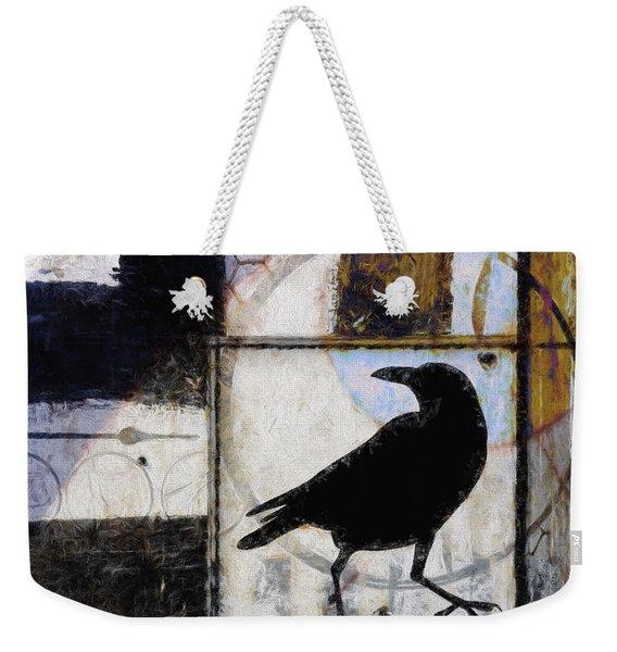 Raven Ahead Of Time Weekender Tote Bag