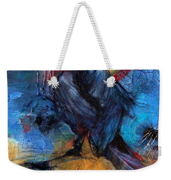 Raven Blue Weekender Tote Bag