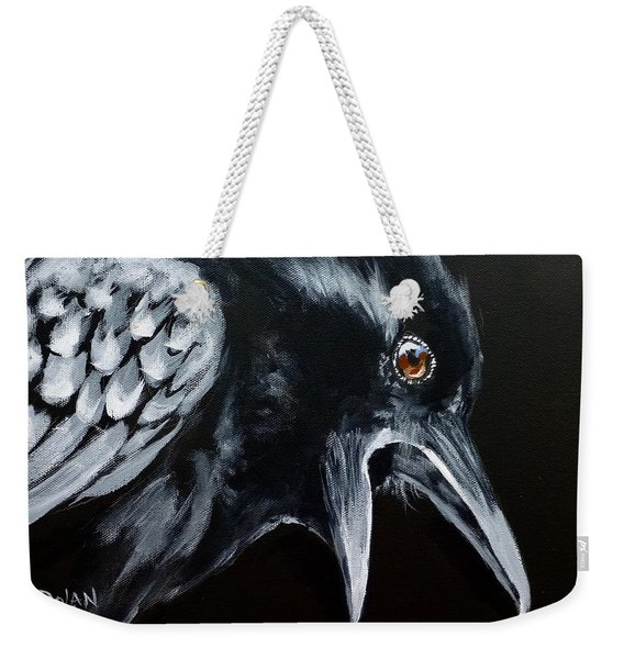 Raven Complaining Weekender Tote Bag