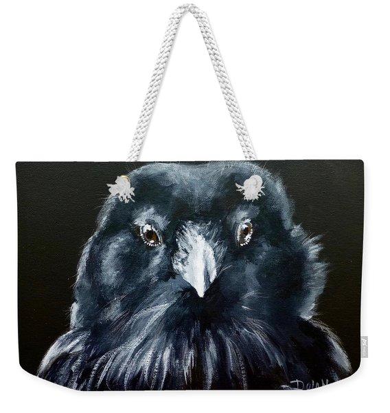 Raven Fluff Weekender Tote Bag