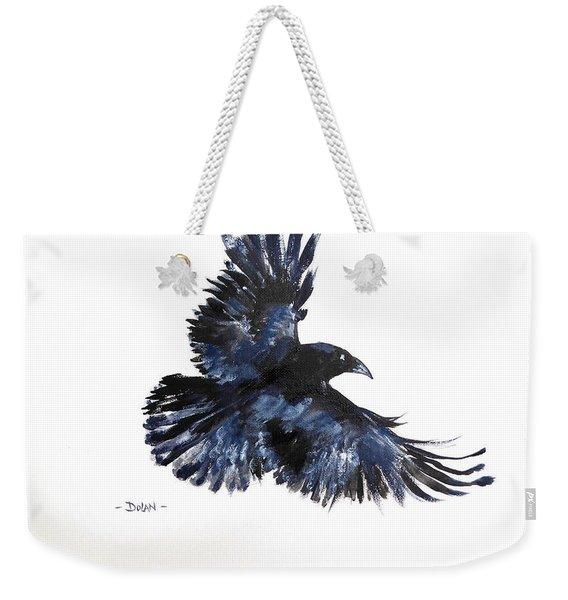 Raven In Flight Weekender Tote Bag