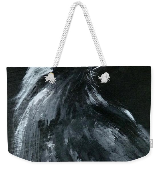 Raven Looking Right Weekender Tote Bag