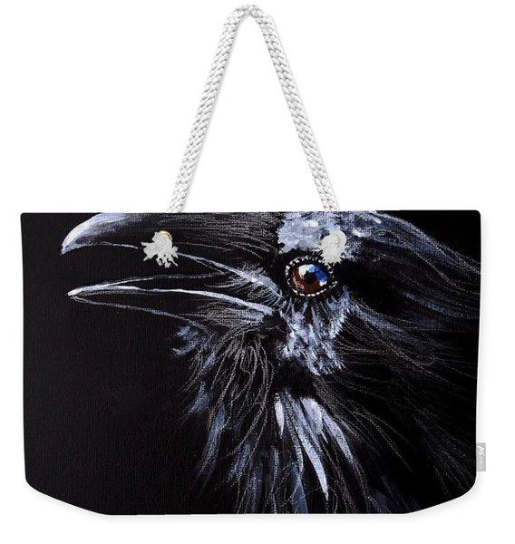 Raven Portrait Weekender Tote Bag