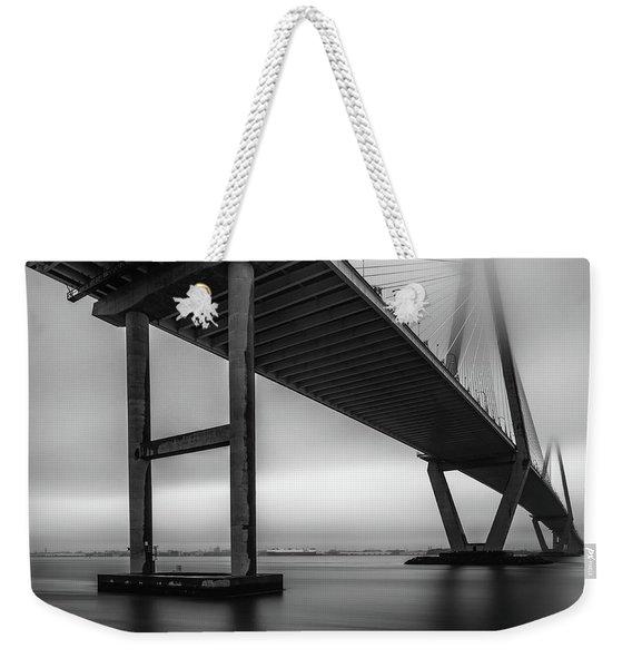 Ravenel Bridge November Fog Weekender Tote Bag