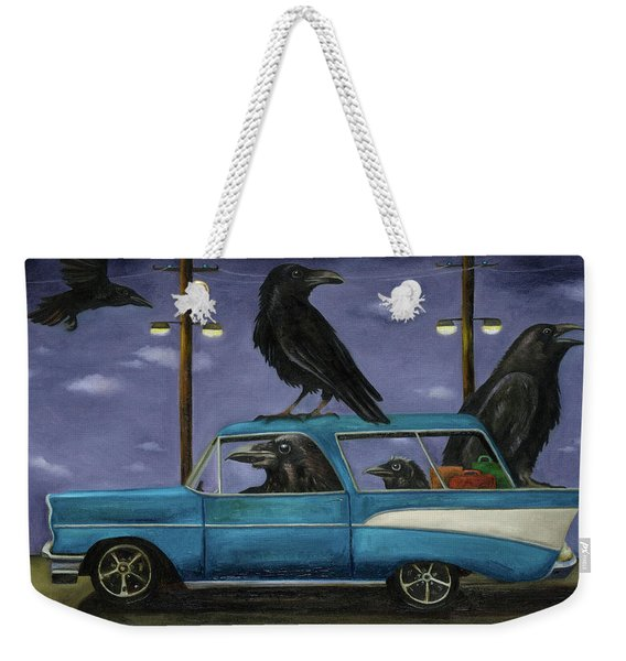 Ravens' Ride Weekender Tote Bag