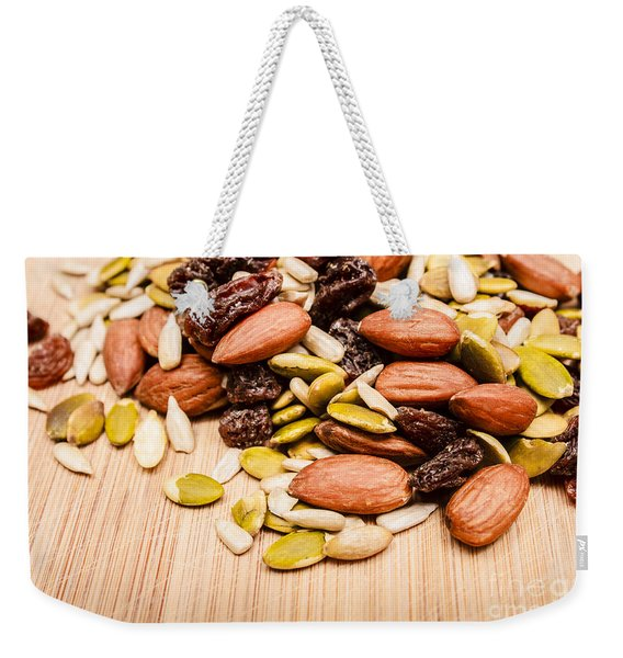 Raw Organic Nuts And Seeds Weekender Tote Bag