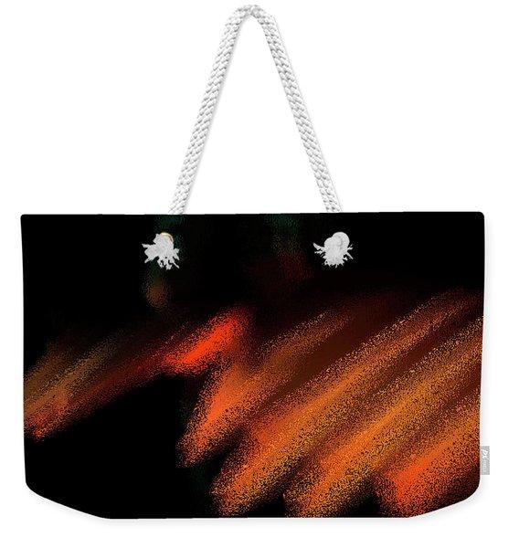 Rays In Orange And Gold Weekender Tote Bag