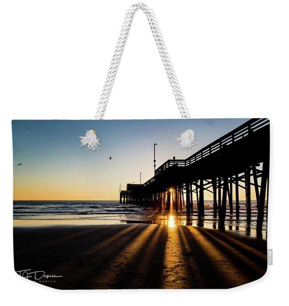 Rays Of Evening Weekender Tote Bag