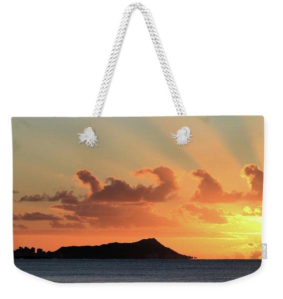 Rays Over Diamond Head Weekender Tote Bag