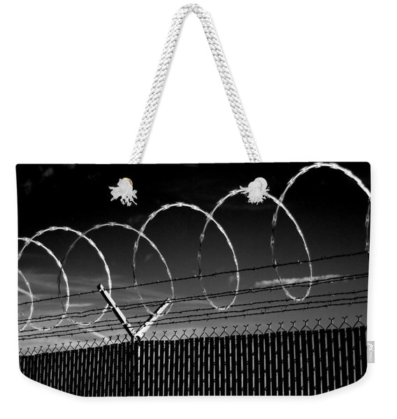 Razor Wire In The Sun Weekender Tote Bag