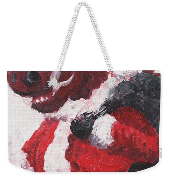 Razorback Santa Weekender Tote Bag