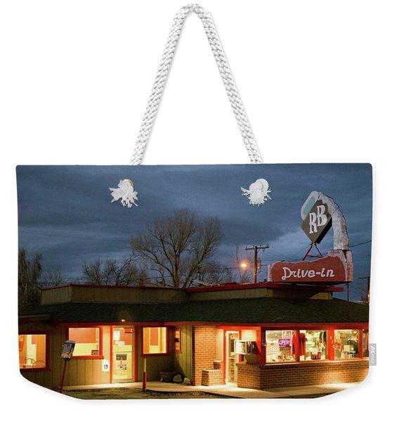 R B Drive-in Weekender Tote Bag
