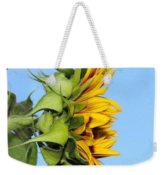 Reaching Sunflower Weekender Tote Bag