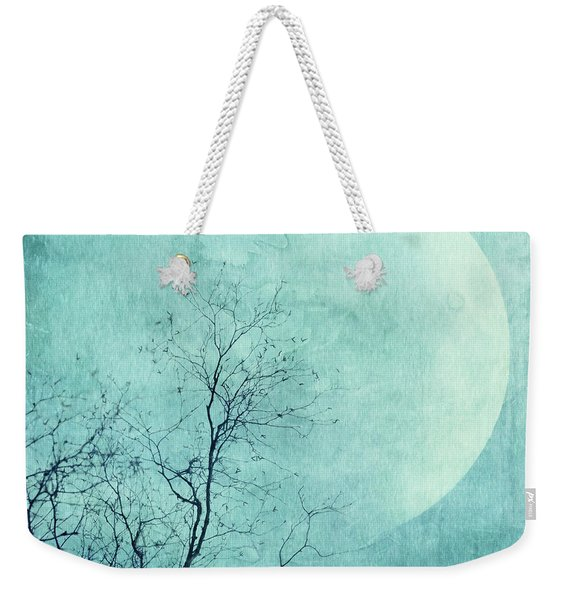 Reach For The Moon Weekender Tote Bag