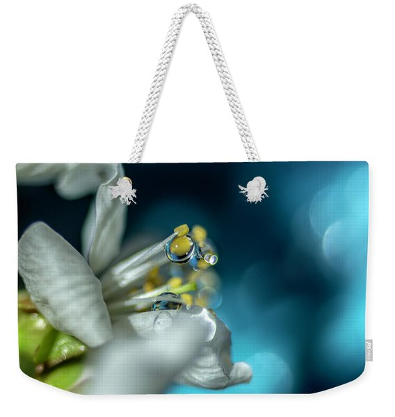 Reaching Into The Blue Weekender Tote Bag