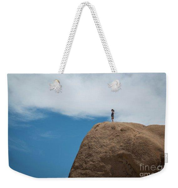 Reaching The Top Of The Rock Weekender Tote Bag