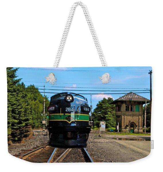 Reading 284  Train Weekender Tote Bag