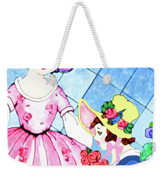 Weekender Tote Bag featuring the painting Ready For The Party by Marian Cates