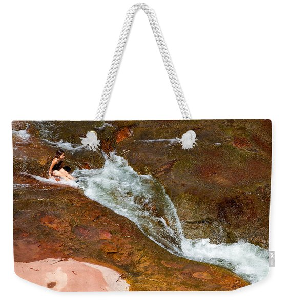 Ready For The Slide Weekender Tote Bag