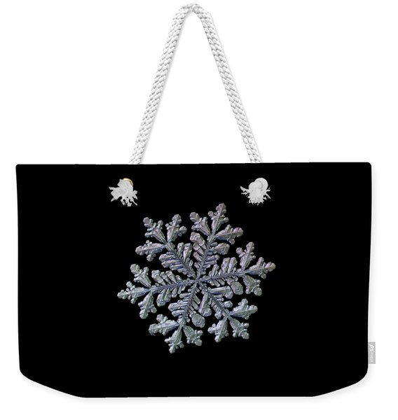 Real Snowflake - Hyperion Black Weekender Tote Bag
