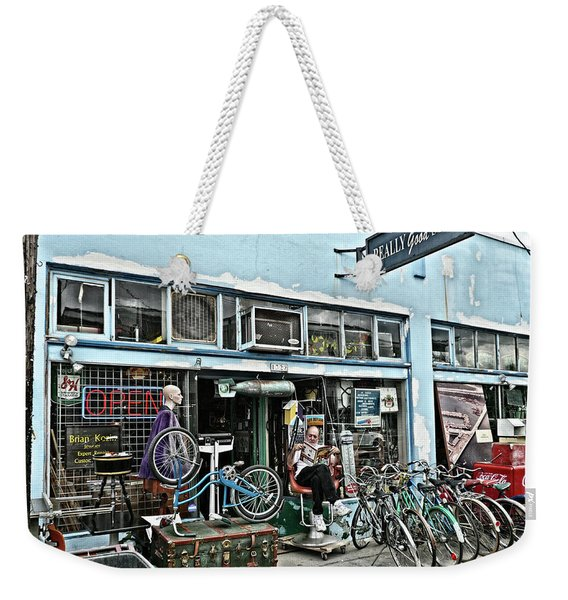 Weekender Tote Bag featuring the photograph Really Good Stuff by Frank DiMarco