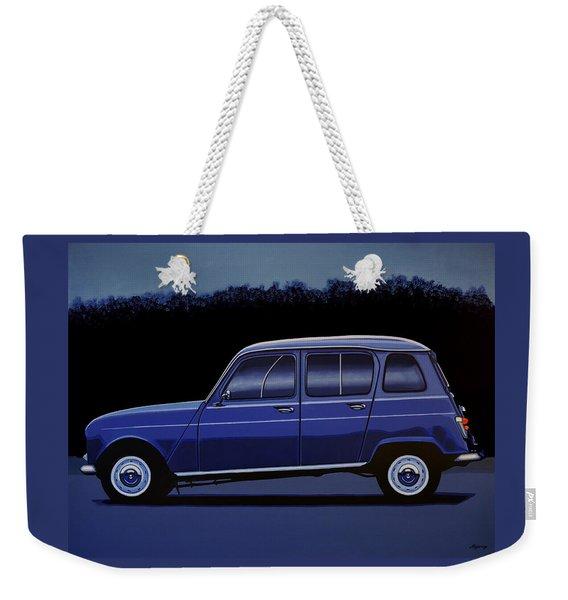 Renault 4 1961 Painting Weekender Tote Bag