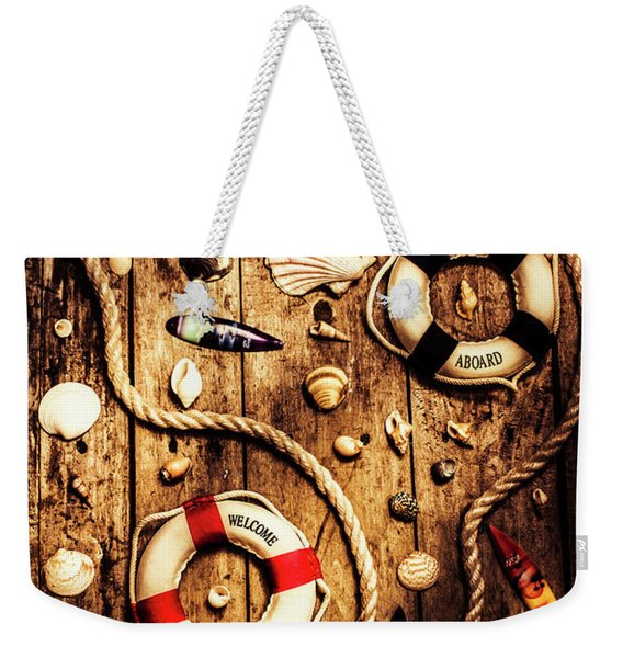 Rearranging The Deck Chairs Weekender Tote Bag