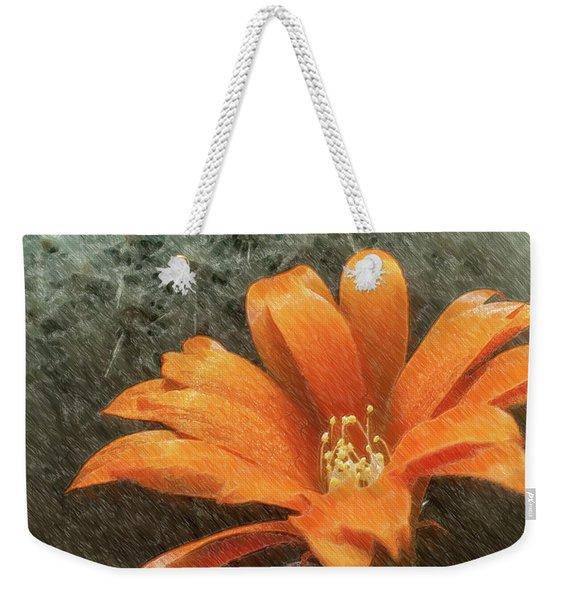 Rebutia Muscula Bright Orange Flower Weekender Tote Bag