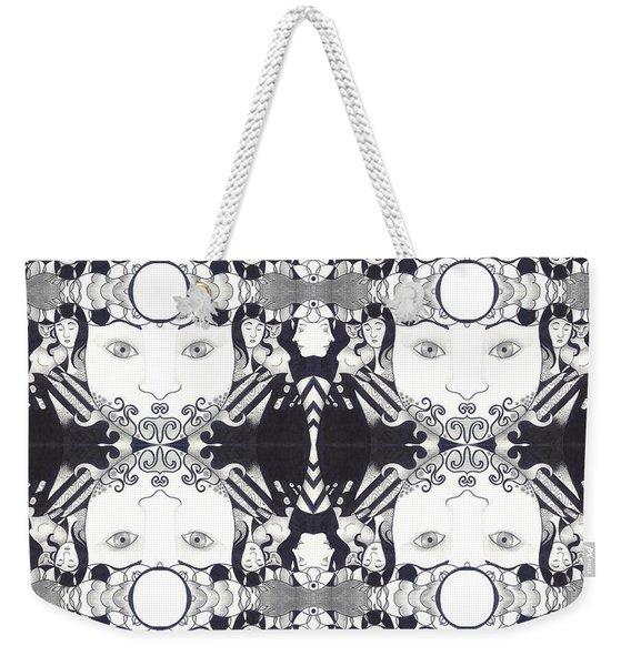 Recalling The Goddess 2 Tile Weekender Tote Bag