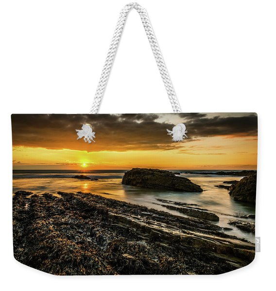 Weekender Tote Bag featuring the photograph Receding Tide by Nick Bywater