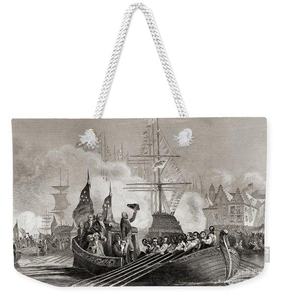 Reception Of President Washington At New York Usa April 23rd, 1879 Weekender Tote Bag