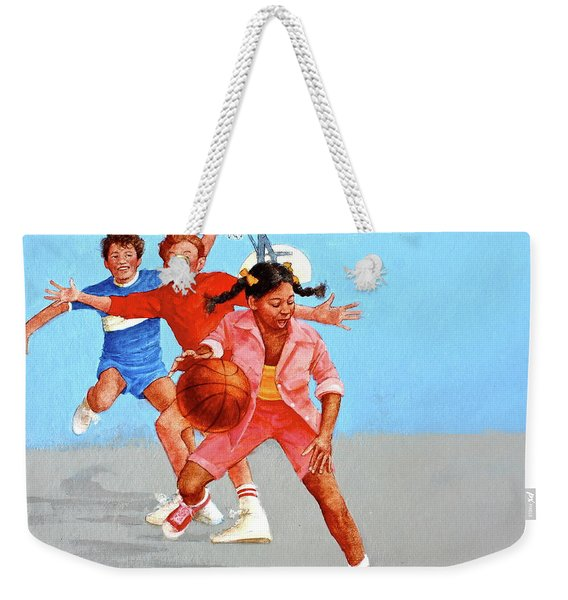 Weekender Tote Bag featuring the painting Recess by Cliff Spohn