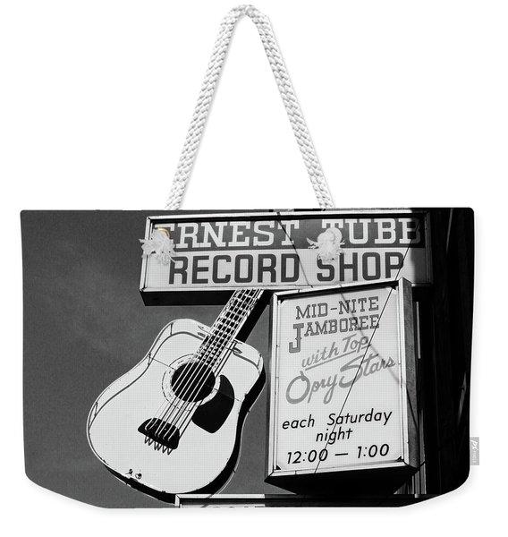 Record Shop- By Linda Woods Weekender Tote Bag