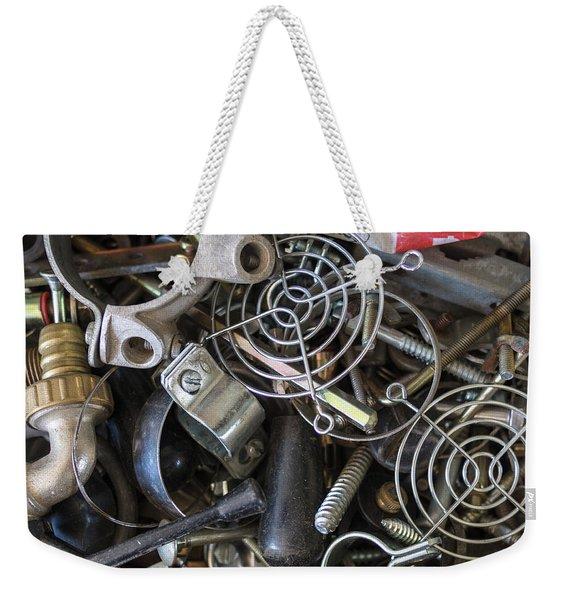 Recycle Metal Weekender Tote Bag