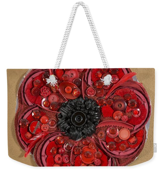Recycled Poppy Weekender Tote Bag